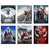 Spiderman Far from Home Poster-Drucke, Set mit 6 Fotos