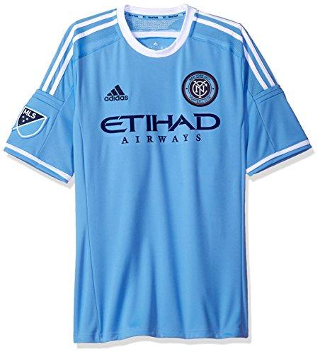 adidas New York City FC MLS Performance - Camiseta réplica de camiseta de fútbol, color azul claro azul S