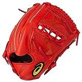 アシックス(asics) 野球 軟式用 グローブ 大谷翔平選手モデル(プロフェッショナルスタイル) ピッチャー用 右投げ用(LH) サイズ8 3121A437 3121A437 Rオレンジ LH