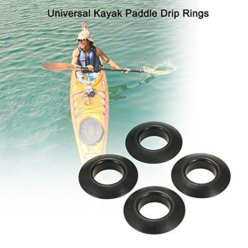 Blusea Ersatzteile für Ruderboote 4pcs Universal Kajak Kanu Raft Paddel Oar Drip Ringe Spritzschutz Schutz Paddel Zubehör Ersatz