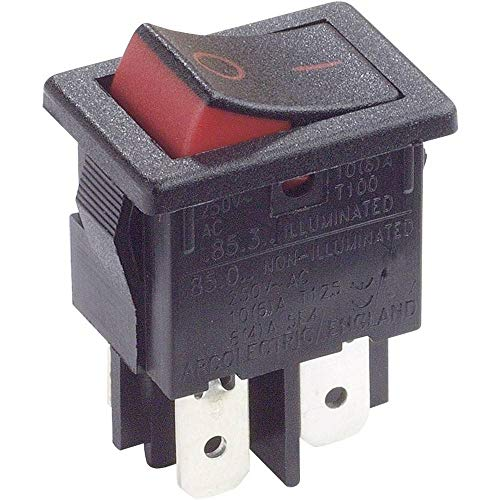ARCOLECTRIC Wippschalter H8550XBAAA 250 V/AC 10 A 2 x Aus/EIN rastend 1 St.