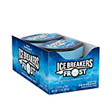 ICE BREAKERS FROST Peppermint Flavored Sugar Free Breath Mints, Bulk Mint Candy, 1.2 Oz., Tins (6 Count)
