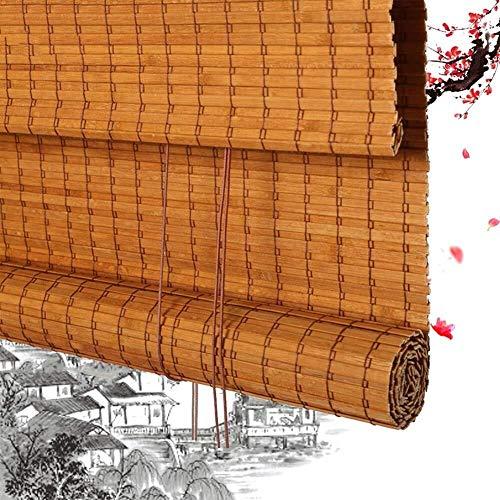 Persianas Enrollables De Bambú Persianas Enrollables Romanas De Bambú Persianas Enrollables De Madera - Oscurecimiento De Ventanas Sombreado Filtración De Luz A La Terraza Del Balcón Terraza (90x200CM