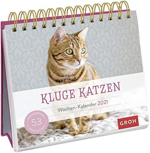 Kluge Katzen 2021: Aufstell-Kalender mit Wochenkalendarium