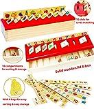 Toys of Wood Oxford Boîte de tri en Bois pour bébé - Jouets éducatifs Montessori - Jeu d'apprentissage pour Les Chiffres Les Formes. Coffret en Bois pour Le tri par catégorie - Jeu d'association.