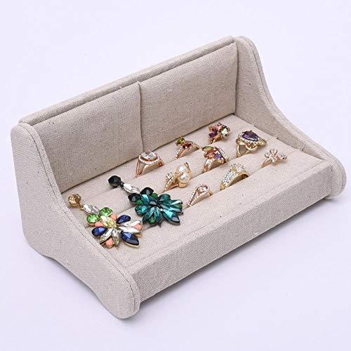 ASDFG sieradenopbergdoos fluweel sieraad opbergdoos linnen sofa ring frame sieraad display rekwisieten