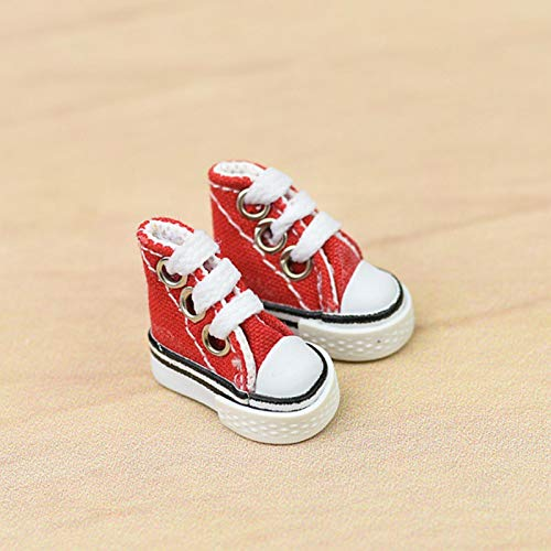 whelsara par de Zapatos de muñeca para niña Zapatos con Mini Dedos Lindos Zapatos de Skate Zapatos con Dedos Rotos en el diapasón Zapatos de Lona con diapasón Eco Friendly