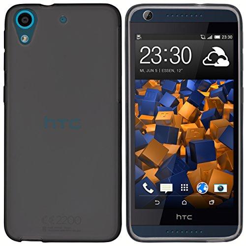 mumbi Hülle kompatibel mit HTC Desire 626G Handy Case Handyhülle, transparent schwarz