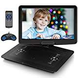 Jekero 17.9' Portable DVD Player with 15.6' HD Swivel Screen, Personal DVD Player with 5 Hrs Rechargeable Battery, Mobile DVD Player for Kids, Home, Sync to TV, Support USB/SD & Multiple Disc Formats