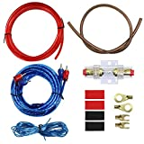 10 Gauge Car Amp Wiring Kit –Welugnal A Car Amplifier Install subwoofer Wire Wiring Kits Helps You Make Connections and Brings Power to Your Radio, Subwoofers and Speakers Amp Power Wire