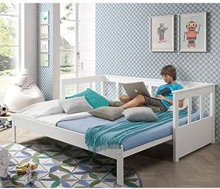comprar comparacion Alfred & Compagnie leïa – Cama nido, 90x 200 cm,extensible a 180x 200 cm, blanca
