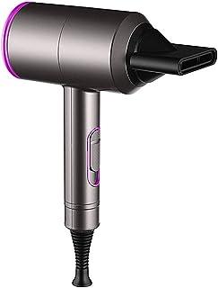 Secador de pelo iónico, 2000 W, secador de pelo iónico, 3 velocidades, 2 boquillas concentrador y accesorios difusores, velocidad de calor, aire frío, silencioso, rápido, para cabello rizado y liso