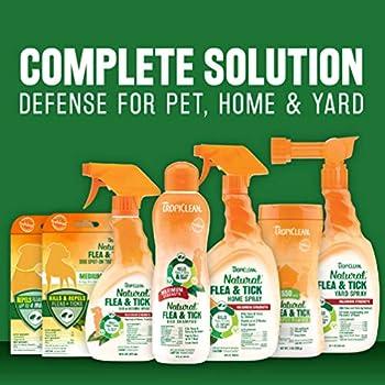 TropiClean Shampooing naturel anti-puces et tiques pour chiens et chiots