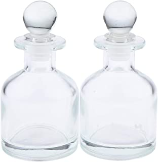 Flameer Pack of 2 Clear Glass Diffuser Bottles Containers for Essential Oils DIY Replacement Reed Diffuser, Crafts, Weddin...