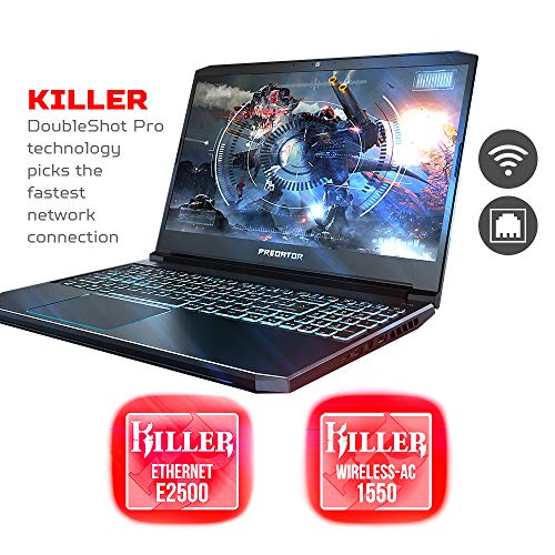 Acer Predator Helios 300 Gaming Laptop PC, 15.6 Full HD 144Hz 3ms IPS Display, Intel i7-9750H, GTX 1660 Ti 6GB, 16GB DDR4, 256GB PCIe NVMe SSD, Backlit Keyboard, PH315-52-78VL
