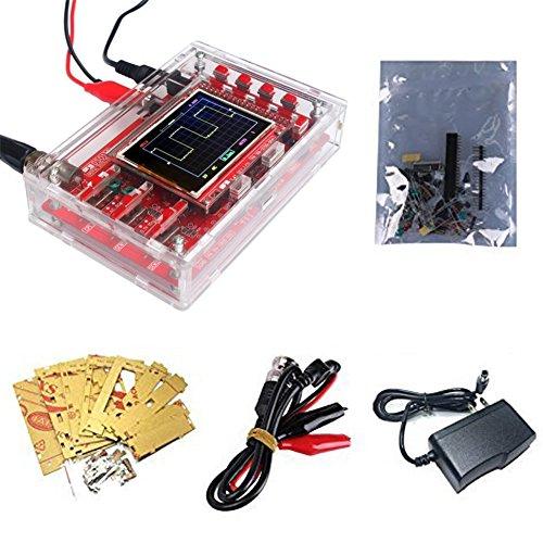 "Osciloscopio Digital DSO138 2.4"" TFT 1Msps con Sonda + Cáscara Electrónico Aprendizaje Conjunto DIY KIT"