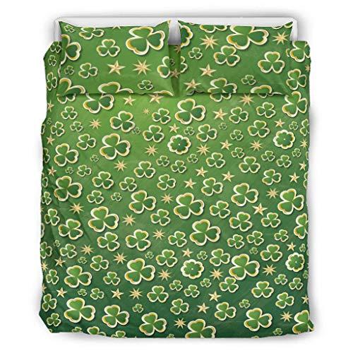 wbinshey Bedding St Patrick's Day Comfort Home - Juego de almohadas decorativas para cama (264 x 228 cm), color negro