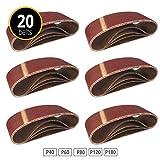 Cinturones de Lijado de Tela ? 20 piezas ? 75 x 457 mm ? Mixpack...