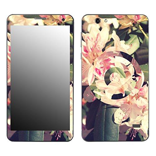 Disagu SF-106890_1057 Design Folie für Touchlet SX7.Slim, Motiv Rhododendron geomerisch, klar