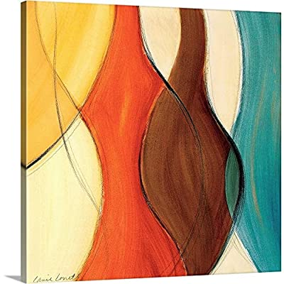 Coalescence II (Brown/Yellow/Teal) Canvas Wall Art Print from CANVAS ON DEMAND