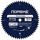 Norske Tools NCSBP272 8-1/4 inch 60T Melamine Plus Saw Blade For Ultra-smooth Cutting of Melamine,...
