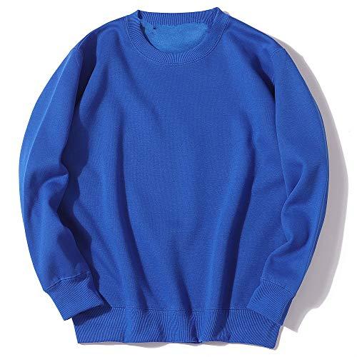YLSMN Einfarbiger Rundhalspullover lose XXXL Hoodie 3D gedruckte Jacke Kostüm Reißverschluss Sweatshirt Pullover