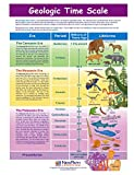 NewPath Learning-947122 Geologic Time Scale Visual Learning Guides, Set/5-4-Panel, 11' x 17' Laminated Guides, Full-Color Graphic Overview, Write-On/Wipe-Off Activities