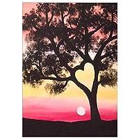 DIY 5D ダイヤモンドペインティングキット フルドリル 夕日の木の風景 クリスタルダイヤモンド ダイヤモンド絵画 ナンバーキット大人と初心者用 クロスステッチ 刺繍 アートクラフト 家の壁の装飾に Square Drill,50x70cm