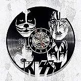 LJJYF Reloj de Pared Grande de,Vinyl Record Clock DC Comics Wall Art Decoración para el hogar Regalo para niños y niñas @ No_Led