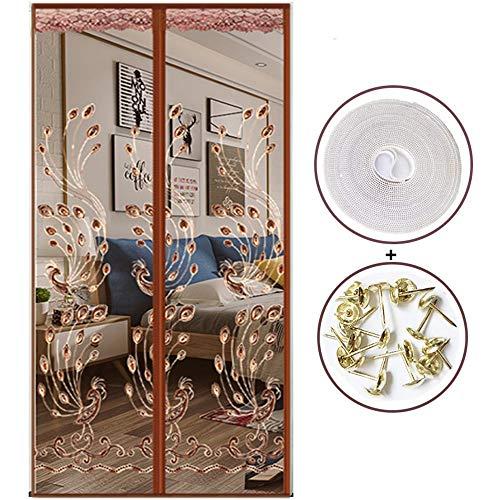 Magnetische hordeur, insectenhor, houdt insecten buiten, vliegen, wespen, horren binnenshuis buiten, voor deuropeningen,A,100 * 210cm