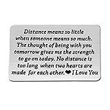 Metal Wallet Love Note Card Long Distance Gift for Boyfriend Wallet Insert Card Deployment Gift Husband for Men