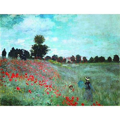 Monet wild poppy - pintura por números, pintura al óleo digital diy, regalo de pintura al óleo sobre lienzo preimpreso diy