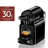 nespresso inissia en80.b macchina per caffè espresso, a capsule, 1260 w, 1 tazza, 14 decibel, 19 bar, plastica, nero (black)
