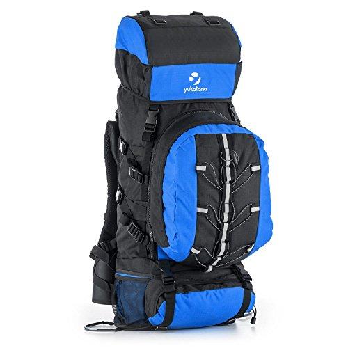 Yukatana Almer - Trekking-Rucksack schwarz-blau