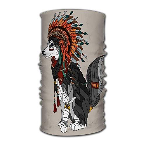 Quintion Robeson Stirnband Lovely Style Wolf Adult Malvorlagen Bandana Helm Liner Balaclava Tube