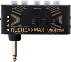Valeton Rushead Max USB Chargable Portable Pocket Guitar Bass Headphone Amp Carry-On Bedroom Plug-In Multi-Effects