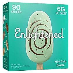 Enlightened Mint Chip Swirl Ice Cream Bar, 15 fl oz (Frozen)