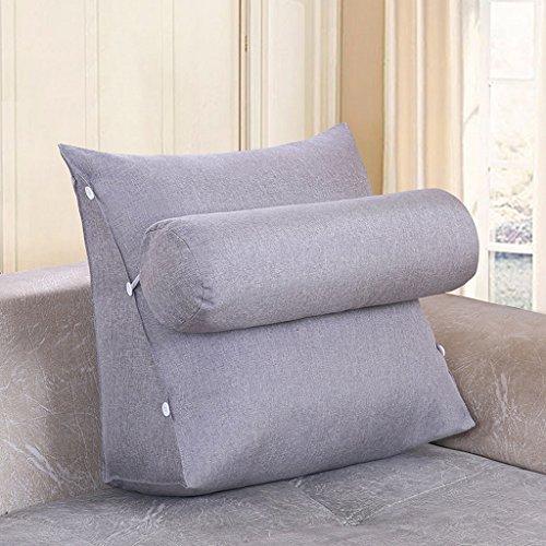 MMM- Chevet Triangulaire Coussin Sangle Garde-Cou Oreiller Canapé Bureau Dossier Pad Lit Oreillers (Couleur : Gris clair, taille : 60 cm)