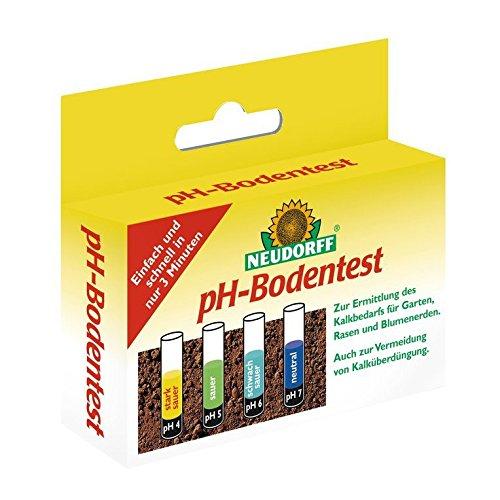 Neudorff pH-Bodentest zur Ermittlung des Boden-pH-Wertes des Kalkbedarfs 8 Tests im Set