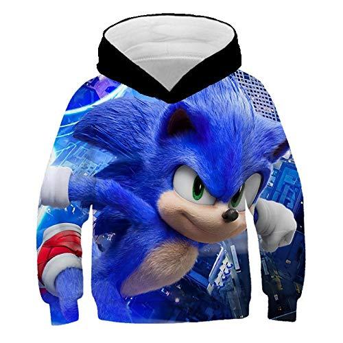 XIANGAI 3D Hoodie Animation für Kinder Super Sonic Printed Cartoon Hedgehog Sporthemd Für Jungen Und Kinder Mit Langarm Mantel