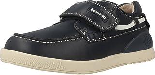 Zapatos Náuticos de Niño con Velcro - Azul Marino - Piel - 182174 (26)