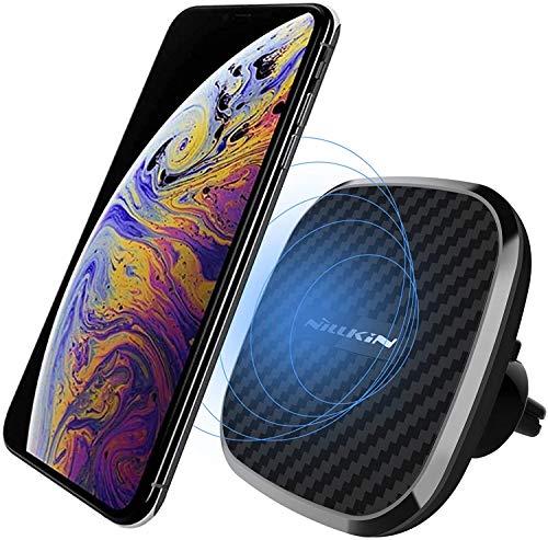 Nillkin 2-in-1 Magnetic Fast Wireless Charger Auto Handyhalterung, 10W Qi Kfz Induktive Ladestation Handy Halterung für iPhone 11 Pro Max/XS Max/XS/XR/8 Plus, Galaxy S10/S10+/Note 10/S9/S8