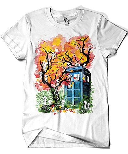 3438-Camiseta Premium, Doctor Who - The Doctor in The Forest (Dr.Monekers)