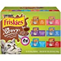 Purina Friskies Gravy Wet Cat Food Variety Pack, Gravy Sensations Farm & Fish Pouches - (24) 3 oz. Pouches