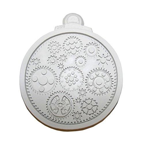unbrand Molde de silicona para muchas ruedas dentadas Steampunk, decoración de tartas.