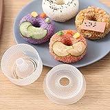 4PCS Sushi Donut Shape Maker, Non-Stick Rice Ball Maker Press Onigiri Mold
