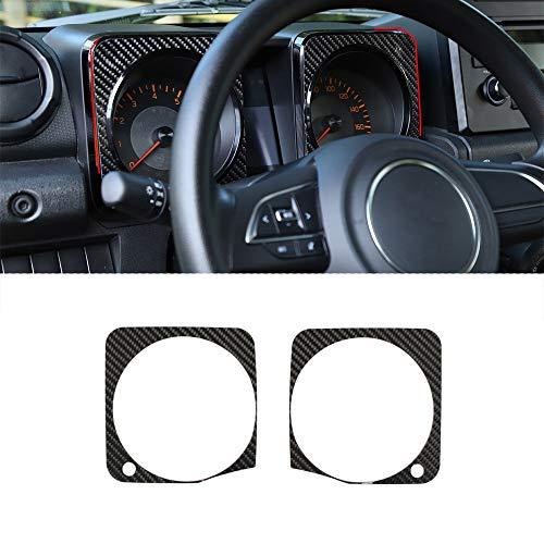 HYSJLS Dashboard Pegatinas decorativas para Suzuki Jimny 2019 2020 coche interior Accesorios suave carbono Fibra look 2 unids/1 Unidades car styling Accesorios