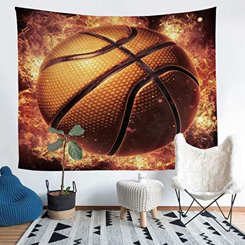 Tapiz de baloncesto para niños y niñas, 3D, decoración de baloncesto para pared, atleta competitivo, arte de pared de lujo para dormitorio, sala de estar, XLarge de 152 x 223 cm