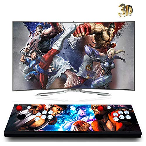 ZOSUO 3D Pandoras Box Arcade Game Console, 1920x1080 Full HD 4 Players Max Arcade Machine with 4188 Games, Support HDMI/VGA/USB for PC/Laptop/TV / PS3, QN121