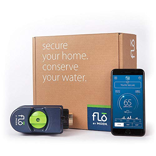 Moen 900-001 Flo 3/4-Inch Leak Detection Smart Home Water Security System, 0.75...